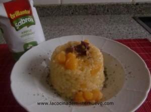arroz con calabaza y jamon brillante sabroz