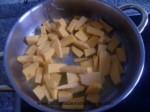 rehogar la calabaza en mantequilla y aceite de oliva