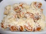 cubrir la pasta con queso y gratinar