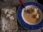 pasar la coliflor por harina y huevo
