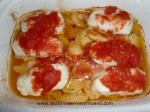 hornear merluza con patatas y tomates