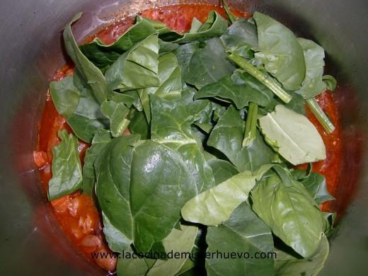 Jud as pintas con chorizo y espinacas la cocina de for Como cocinar alubias pintas
