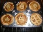 hornear tartaletas pastel de calabaza