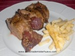 solomillo de cerdo con jamon y queso