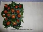 incorporar tomates en el hojaldre