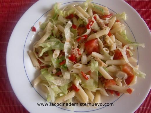 macarrones en ensalada