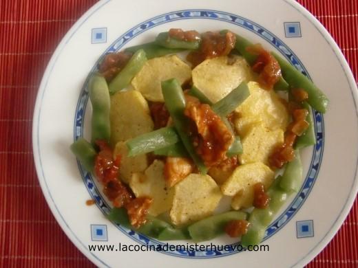 patatas con frejoles