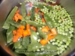cocer zanahoria, guisantes y judias verdes