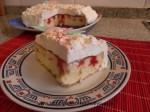 poke cake, corte