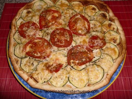 pizza de tomate y calabacin