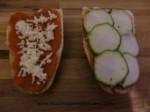panini con queso y calabacin