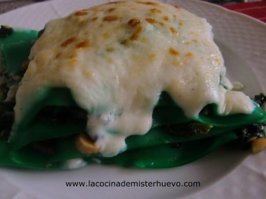 lasaña o lasagna de espinacas