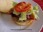 montar ingredientes para hamburguesas