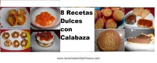 recetas dulces con calabaza