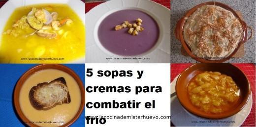 platos para combatir el frio