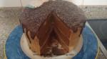corte drip cake chocolate y moka
