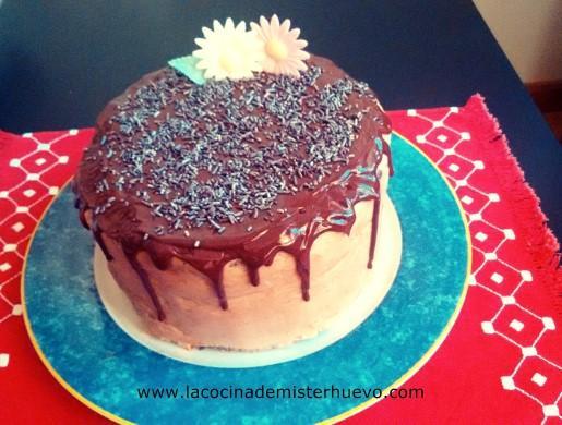 drip cake, tarta de chocolate y moka